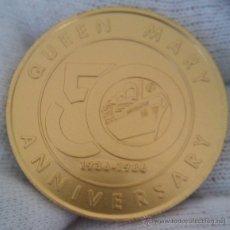 Medallas temáticas: MONEDA MEDALLA 1936-1986 50 ANIVERSARIO DEL QUEEN MARY EDICION LIMITADA Y NUMERADA MUY INTERESANTE. Lote 132359358