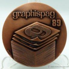 Medallas temáticas: MEDALLA BRONCE GRAPHISPACK GRAPHISPAG 89 1989 SALÓN INTERNACIONAL ARTES GRÁFICAS BARCELONA. Lote 46767380