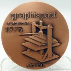 Medallas temáticas: MEDALLA BRONCE GRAPHISPACK 78 1978 SALÓN INTERNACIONAL ARTES GRÁFICAS BARCELONA. Lote 123122848