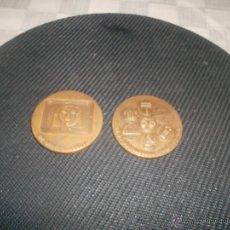 Medallas temáticas: LOTE DE 2 MONEDAS CONMEMORATIVAS TELEFONICA. Lote 46945758