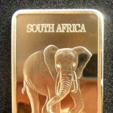 Medallas temáticas: BONITO LINGOTE ORO 24KT EL ELEFANTE DE COLECCION SOUTH AFRICA KING OF AFRICA SUD AFRIKA KRUGERRAND. Lote 92175119
