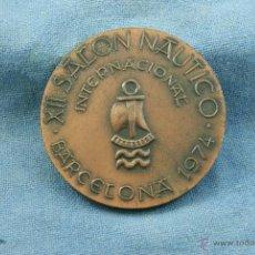Medallas temáticas: XII SALON NAUTICO DE BARCELONA 1974 BARCOS. Lote 47574732