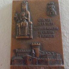 Medallas temáticas: MEDALLA NTRA.SRA DE LA SALUD PATRONATO NACIONAL CULTURA DEPORTES P.M.C.D CASTELLDEFELS 1975. Lote 47850932