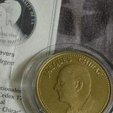 Medallas temáticas: INTERESANTE MONEDA DE BRONZE 1995 PRESIDENTE DE FRANCIA JACQUES CHIRAC EDICION LIMITADA +CERTIFICADO. Lote 47860953