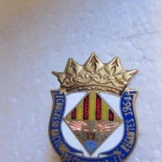 Medallas temáticas: INSIGNIA I CONGRESO NACIONAL DE COMUNIDADES DE REGANTES ESMALTE POLICROMADO RARO. Lote 47915330