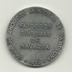 Medallas temáticas: MEDALLA EXPOSICIÓN PINTORAS DE NAVARRA - PAMPLONA 1975. Lote 218888580