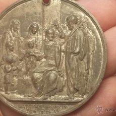 Medallas temáticas: RARISIMA MEDALLA CONMEMORATIVA CON ESCENA DE CRISTO MUY ANTIGUA DE 1895, ENCONTRADA EN DERRIBO. Lote 48593777