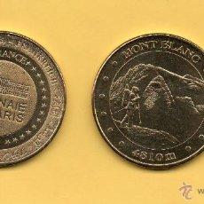 Medallas temáticas: MM. MEDALLA MONT BLANC. MONNAIE DE PARIS. FRANCIA. FRANCE. ESCALADOR. EXCURSIONISTA. MONTAÑA. NIEVE.. Lote 48738577