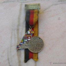 Medallas temáticas: MEDALLA CONMEMORATIVA DEL CAMPEONATO MUNDIAL DE COLOMBOFILA DE 1978 -BOCHOLT. Lote 48742280