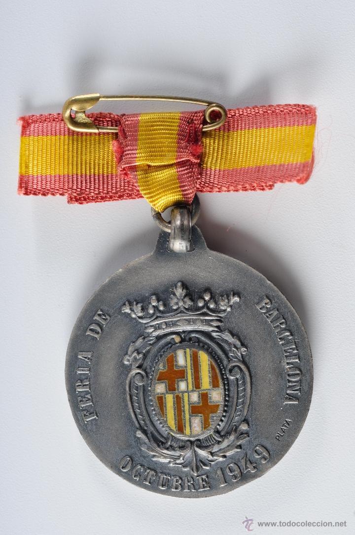 Medallas temáticas: MEDALLA DE PLATA FERIA DE BARCELONA 1949 - Foto 2 - 49212017