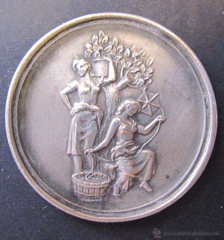 MEDALLA CENTENARIO LOMBARD. FABRICA DE SEDA. ALMOINES VALENCIA 1848 - 1948. DIAM. 3,5 CM (Numismática - Medallería - Temática)