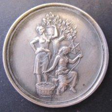 Medallas temáticas: MEDALLA CENTENARIO LOMBARD. FABRICA DE SEDA. ALMOINES VALENCIA 1848 - 1948. DIAM. 3,5 CM. Lote 49429917