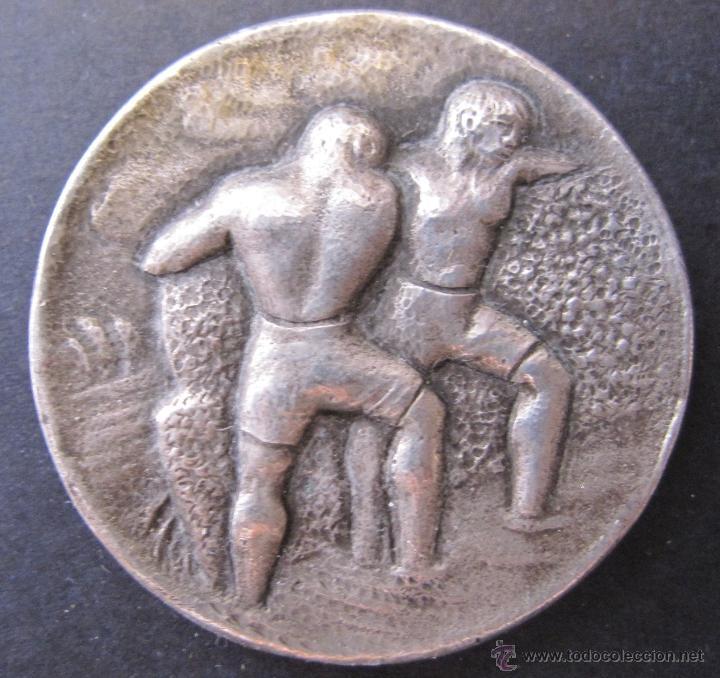 MEDALLA A. BIACHINI INGENIEROS. BARCELONA 1908 - 1958. DIAM. 3 CM (Numismática - Medallería - Temática)