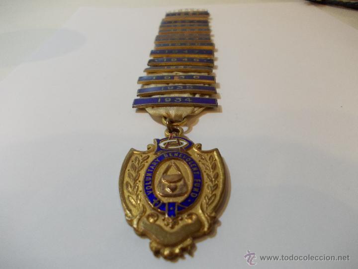 Medallas temáticas: ANTIGUA Y ESPECTACULAR MEDALLA MASONICA londres de oficial mason y años EN METAL DORADO ESMALTADO - Foto 2 - 49498015