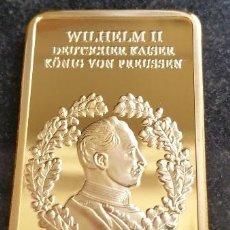 Medallas temáticas: LINGOTE ALEMANIA ORO 24KT DEL KAISER WILHELM II REY DE PREUSSEN 1888-1918 EDICION LIMITADA. Lote 160917309