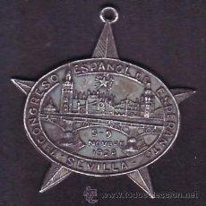 Medallas temáticas: MEDALLA CONMEMORATIVA - 7º CONGRESO ESPAÑOL DE ESPERANTO - SEVILLA 1928 - 3 CM APROX.. Lote 54022332