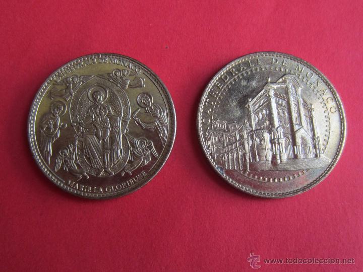 MEDALLA CATEDRAL DE MONACO.DOS DISTINTAS. (Numismática - Medallería - Temática)
