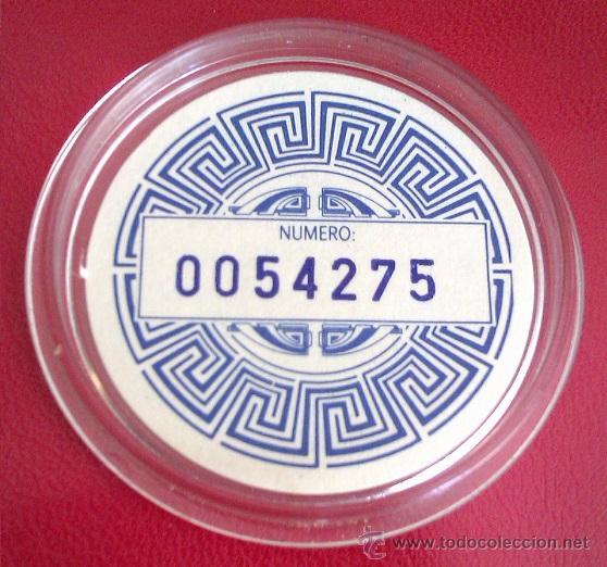 Medallas temáticas: MONEDA DE LA FIAT SERIE LIMITADA Y NUMERADA AÑO 1992 EN SU CAPSULA PROTECTORA - Foto 3 - 50335780