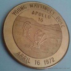 Medallas temáticas: BONITA MONEDA CONMEMORATIVA DEL APOLLO 16 ABRIL 1972 PROGRAMA ESPACIAL 16. Lote 50336064