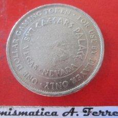 Medallas temáticas: FICHA DE 1 $ DEL CASINO DE LAS VEGAS. CAESARS PALACE. Lote 50429266