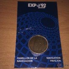 Medallas temáticas: MEDALLA MONEDA PABELLON NAVEGACION EXPOSICION UNIVERSAL SEVILLA 1992 EXPO 92. Lote 50572146