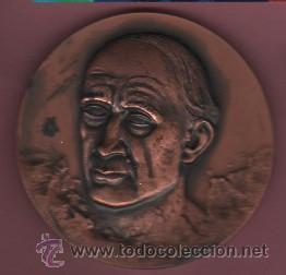INTERESANTE MEDALLA DEL FAMOSO ESCULTOR JOSEP CLARA I AXATS - OLOT 1878 - CENTENARI NAIXAMENT 1978 (Numismática - Medallería - Temática)