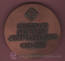 Medallas temáticas: interesante medalla del famoso escultor josep clara i axats - olot 1878 - centenari naixament 1978 - Foto 2 - 50733326