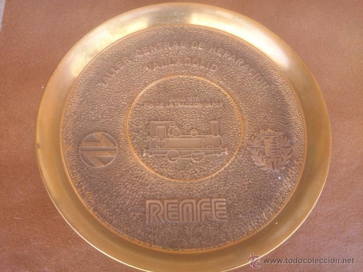 TALLER CENTRAL DE REPARACION VALLADOLID RENFE FIN DE LA TRACCION VAPOR (Numismática - Medallería - Temática)