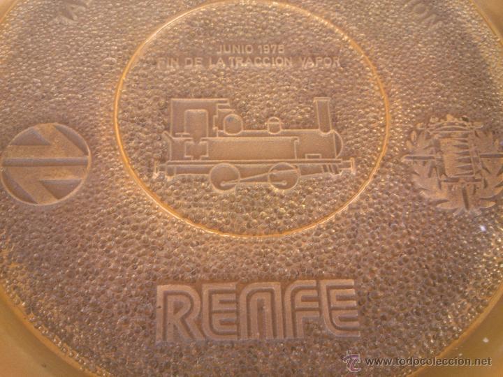 Medallas temáticas: TALLER CENTRAL DE REPARACION VALLADOLID RENFE FIN DE LA TRACCION VAPOR - Foto 3 - 50987828