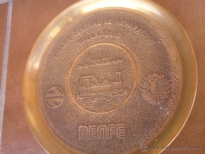 Medallas temáticas: TALLER CENTRAL DE REPARACION VALLADOLID RENFE FIN DE LA TRACCION VAPOR - Foto 5 - 50987828