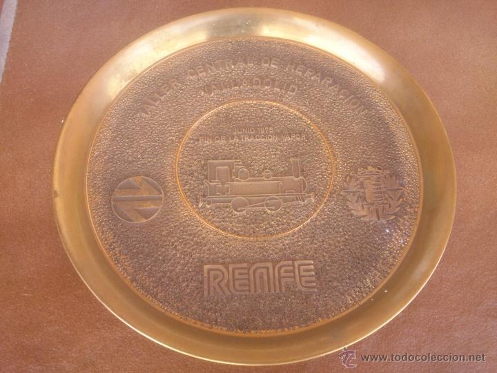 Medallas temáticas: TALLER CENTRAL DE REPARACION VALLADOLID RENFE FIN DE LA TRACCION VAPOR - Foto 6 - 50987828
