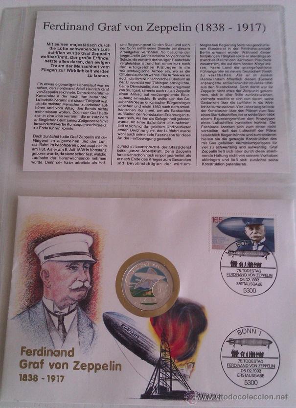 Medallas temáticas: BONITA MONEDA DE PLATA FERDINAND GRAF VON ZEPPELIN LZ10 1917-1997 BENIN 500 FRANCS - Foto 2 - 51007751
