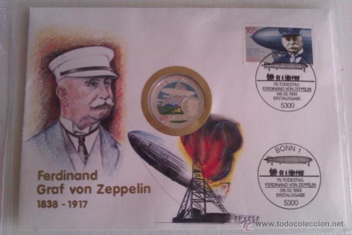 Medallas temáticas: BONITA MONEDA DE PLATA FERDINAND GRAF VON ZEPPELIN LZ10 1917-1997 BENIN 500 FRANCS - Foto 3 - 51007751