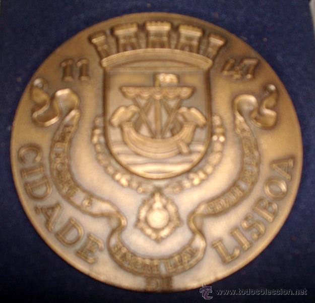 MEDALLÓN EN METAL DE LA CIUDAD DE LISBOA PORTUGAL (Numismática - Medallería - Temática)