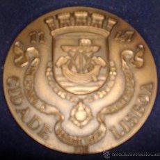 Medallas temáticas: MEDALLÓN EN METAL DE LA CIUDAD DE LISBOA PORTUGAL. Lote 51074046