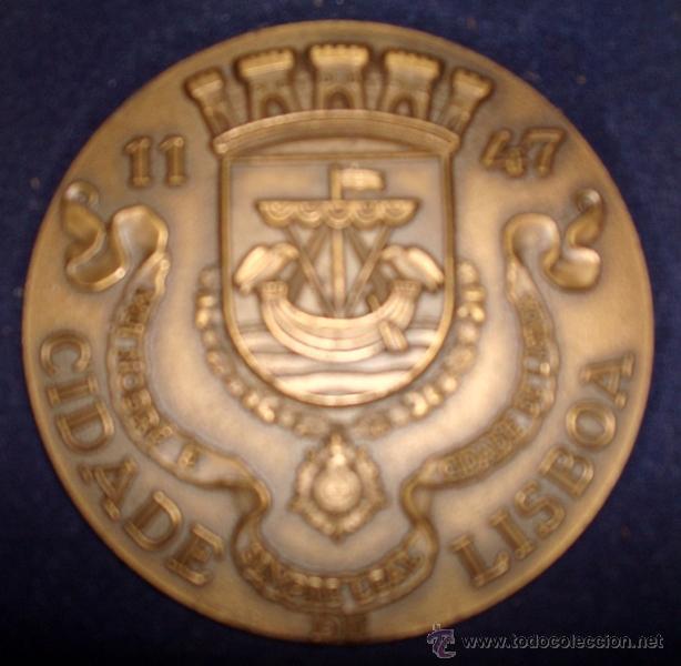 Medallas temáticas: MEDALLÓN EN METAL DE LA CIUDAD DE LISBOA PORTUGAL - Foto 2 - 51074046