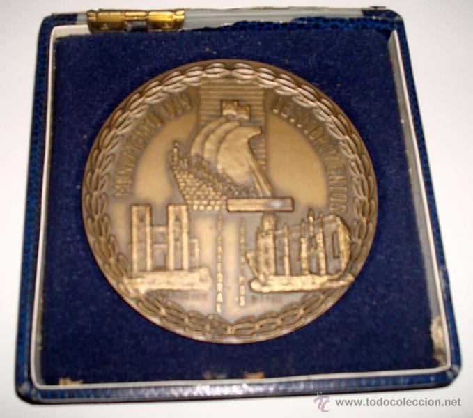 Medallas temáticas: MEDALLÓN EN METAL DE LA CIUDAD DE LISBOA PORTUGAL - Foto 3 - 51074046
