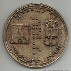 Medallas temáticas: MUY RARA MEDALLA ASTURIANA DE LA ORGANIZACION DE CIEGOS DE 1987. Lote 51252999