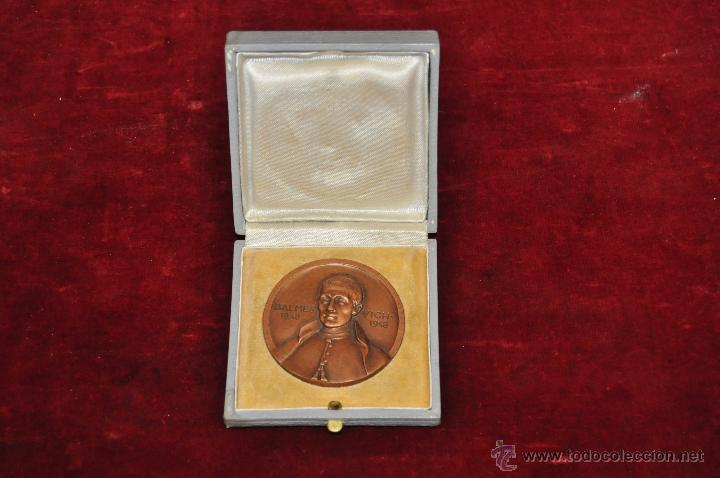 JAUME BALMES I URPIA (VIC, 1810 - 1848) MEDALLA CONMEMORATIVA DEL AÑO 1948 (Numismática - Medallería - Temática)