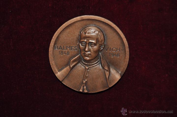 Medallas temáticas: JAUME BALMES I URPIA (VIC, 1810 - 1848) MEDALLA CONMEMORATIVA DEL AÑO 1948 - Foto 3 - 51336668