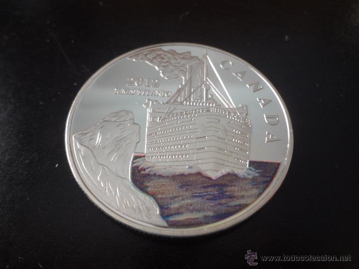 MONEDA DE PLATA CONMEMORATIVA 2012 - HUNDIMIENTO DEL TITANIC - CANADA (1) (Numismática - Medallería - Temática)