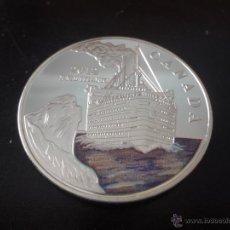 Medallas temáticas: MONEDA DE PLATA CONMEMORATIVA 2012 - HUNDIMIENTO DEL TITANIC - CANADA (1). Lote 172249320