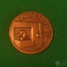 Medallas temáticas: MEDALLA FINUSGAB - FUENTES BARCELONA - COBRE 50MM. 1993.. Lote 51681286