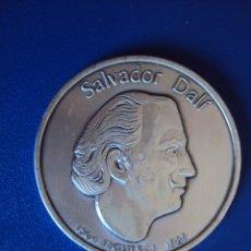 Medallas temáticas: (ANT-1089)MEDALLA DE PLATA 999 DE SALVADOR DALI,1904 FIGUERAS 1989,(52 GRAMOS). Lote 51682731