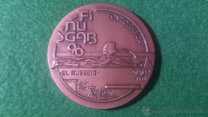 MEDALLA FINUSGAB - FUENTES BARCELONA - COBRE 50MM. 1996. (Numismática - Medallería - Temática)