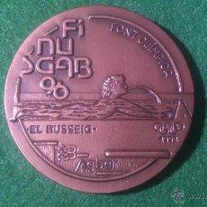Medallas temáticas: MEDALLA FINUSGAB - FUENTES BARCELONA - COBRE 50MM. 1996.. Lote 51702897