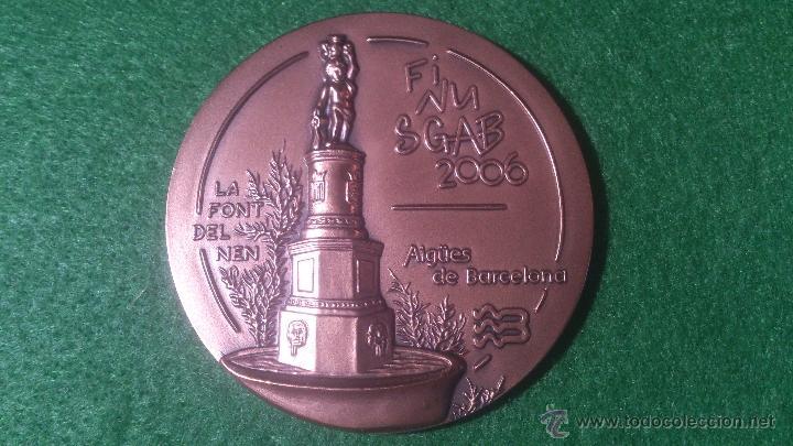 MEDALLA FINUSGAB - FUENTES BARCELONA - COBRE 50MM. 2006. (Numismática - Medallería - Temática)