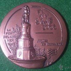Medallas temáticas: MEDALLA FINUSGAB - FUENTES BARCELONA - COBRE 50MM. 2006.. Lote 51703590