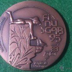 Medallas temáticas: MEDALLA FINUSGAB - FUENTES BARCELONA - COBRE 50MM. 1995.. Lote 51703837