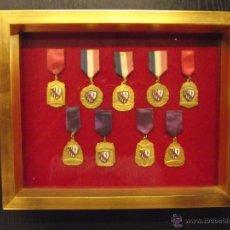 Medallas temáticas: 9 MEDALLAS AL LA BUENA CONDUCTA, APLICACION, APROVECHAMIENTO, BRILLANTEZ , COLEGIO LA LUZ, CUBA. Lote 183808133